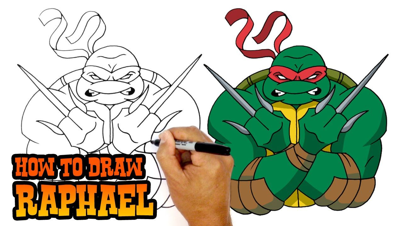 How To Draw Raphael Tmnt Art Lesson For Kids Youtube With