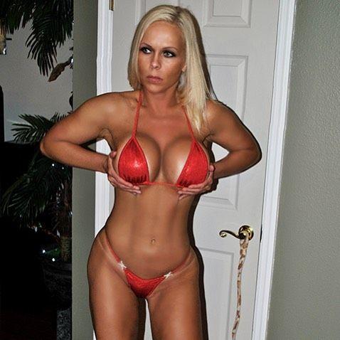 Mature blonde bikini