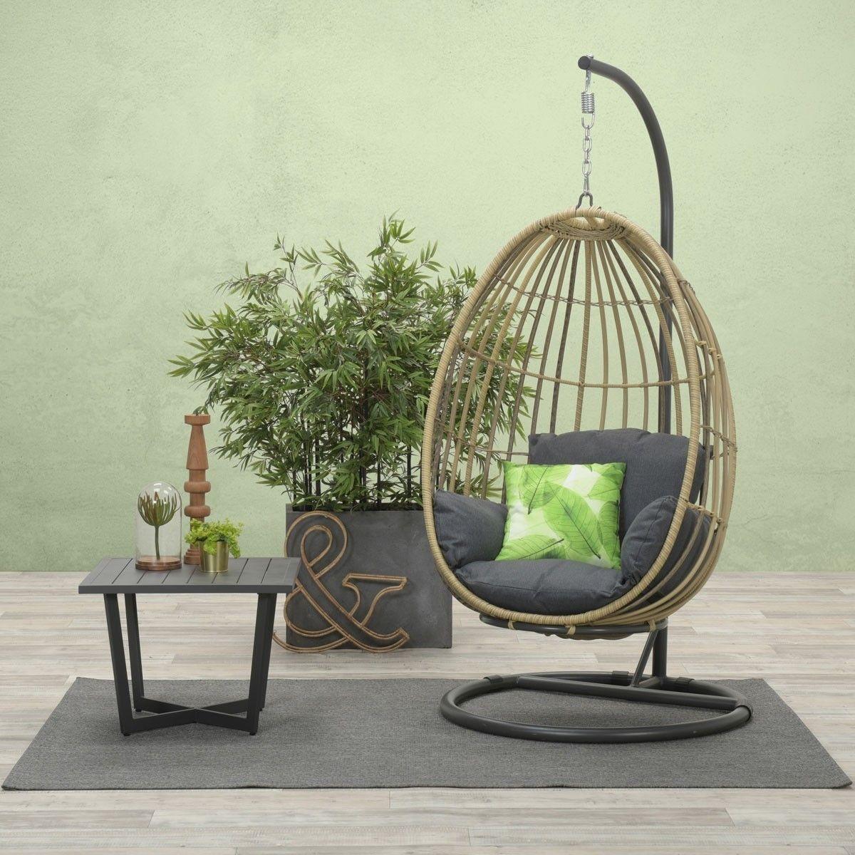 Rotan Hangstoel Wehkamp.Hangstoel Panama Swing Egg Natural Rotan Reflex Black In 2019