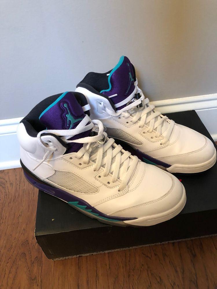 e2243d7b232b50 Nike Air Jordan 5 V Retro Grape Size 9.5  fashion  clothing  shoes ...