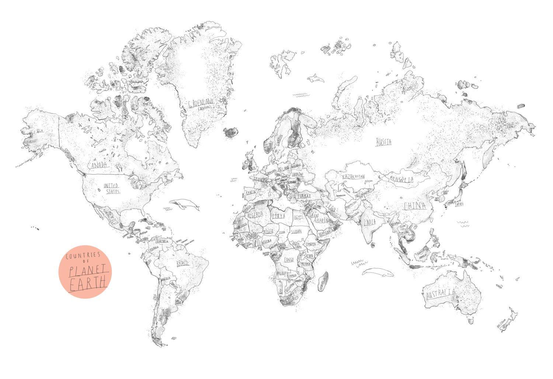 Large World Map on cork - Multiple sizes 18\