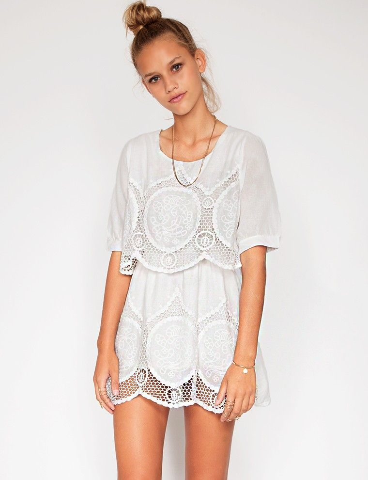 Pretty crochet dress  pixie market