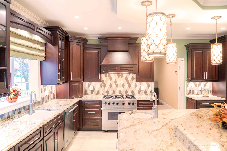 Pin By Consumers Kitchens Baths On Massive Mt Sinai Showcase Design Cherry Kitchen Custom Cabinets