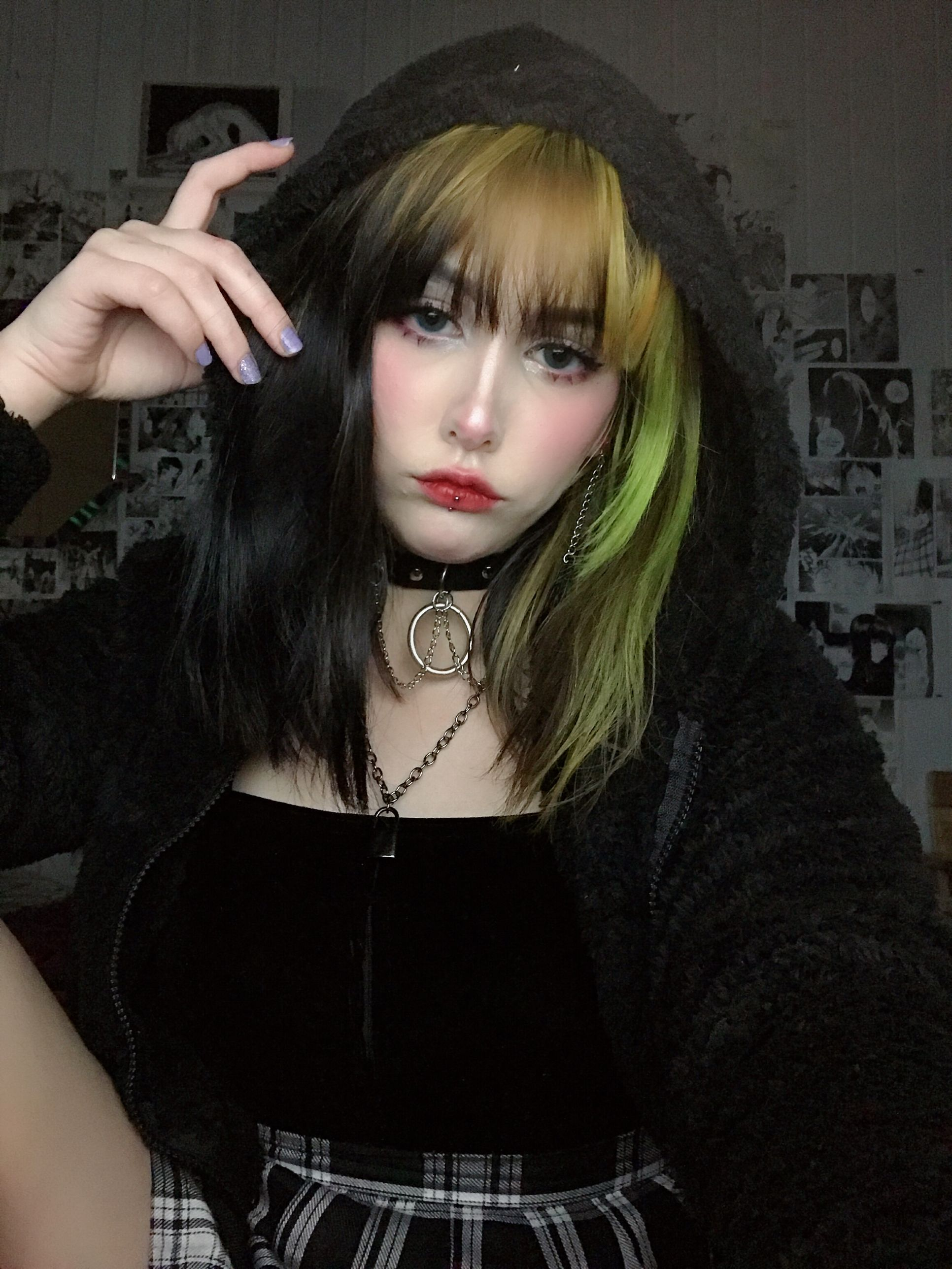 Lilbabefromhell Green Hair Hair Inspiration Pretty Hairstyles
