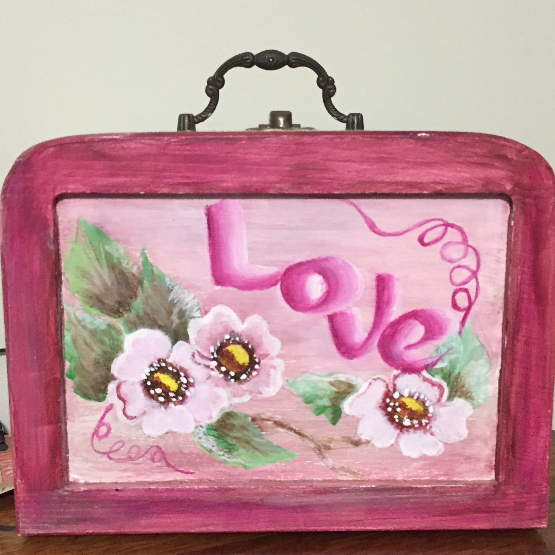 Painting on a small box.