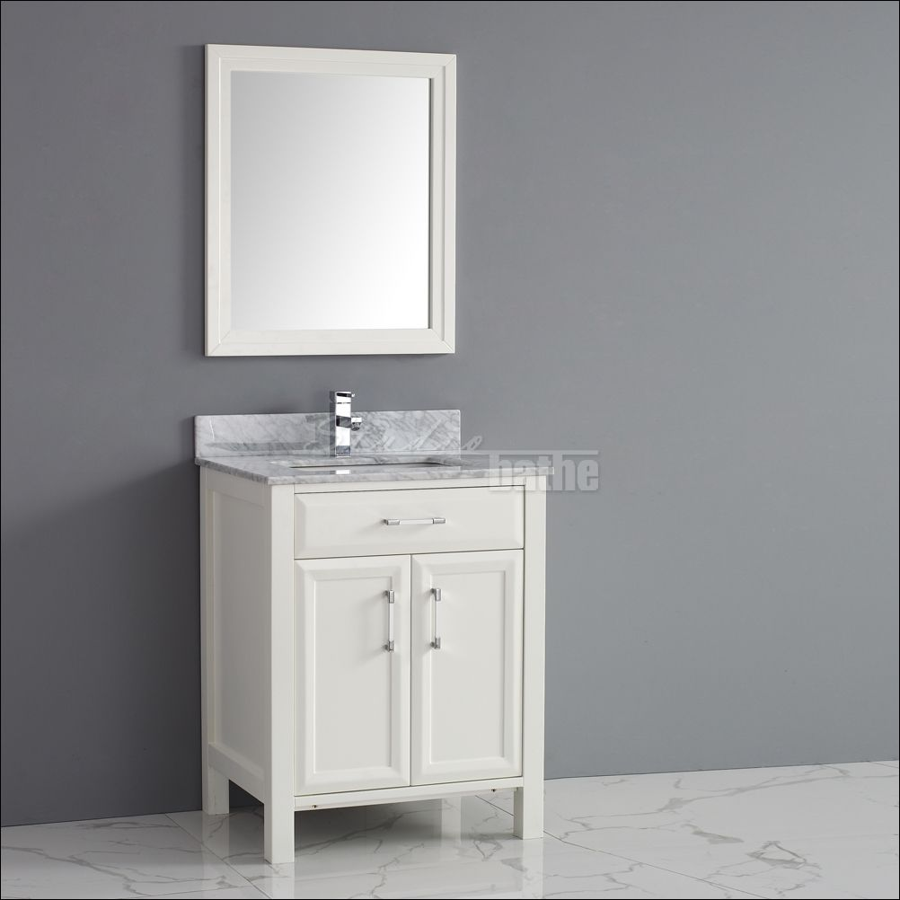 28 Inch White Bathroom Vanity With Images Transitional Bathroom Decor White Vanity Bathroom Marble Vanity Tops