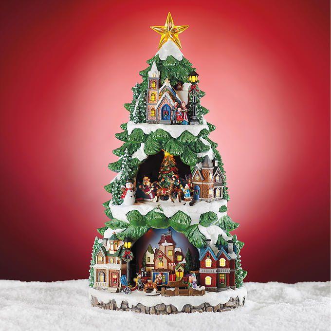 costco led christmas tree with animated scene
