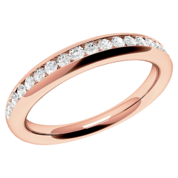 A gorgeous Round Brilliant Cut diamond set eternity/wedding ring in 18ct rose gold