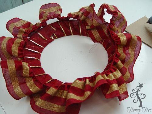 Photo of Ruffled Ribbon Wreath Tutorial – Trendy Tree Blog  Holiday Decor Inspiration   Wreath Tutorials Holiday Decorations  Mesh & Ribbons