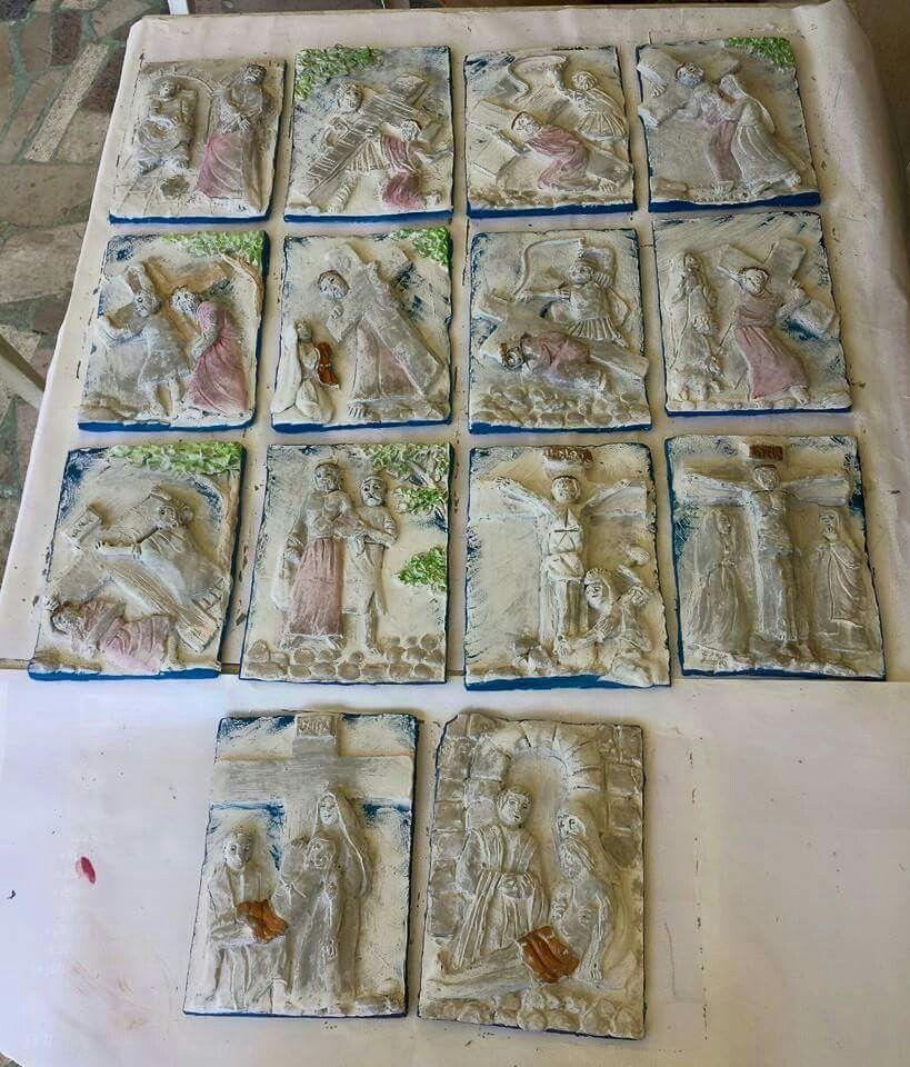 Le stazioni della #viacrucis realizzate dai bambini del catechismo #Corridonia2015