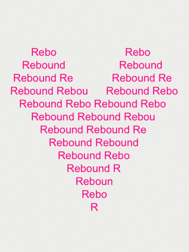 I made this on the iPad... My Dog's name is Rebound...