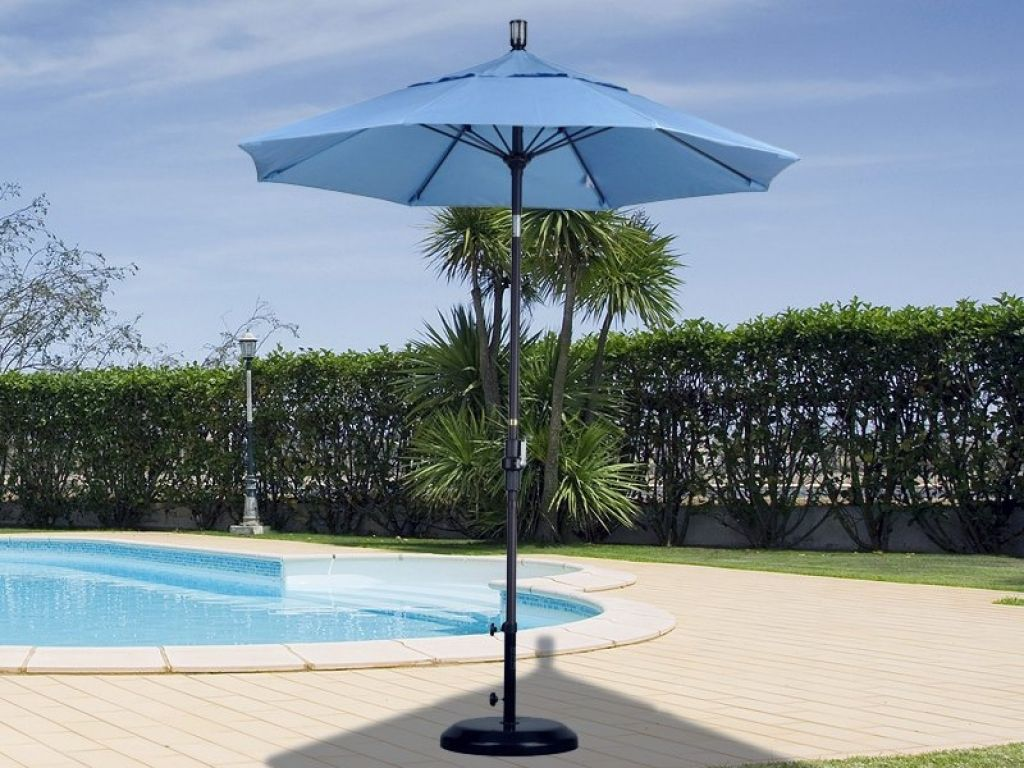 7 Patio Umbrella California Foot Round Aluminum Collar Tilt