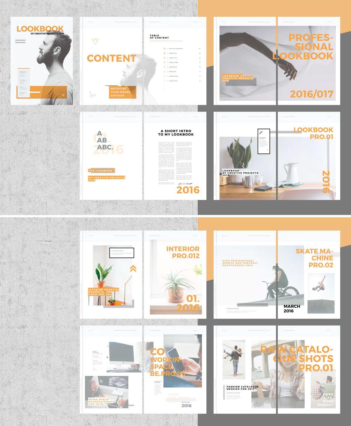 Portfolio Lookbook Template Indesign In 2020 Lookbook Design Portfolio Design Template