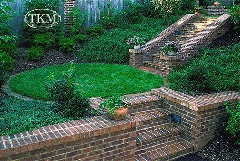 brick retaining walls & steps
