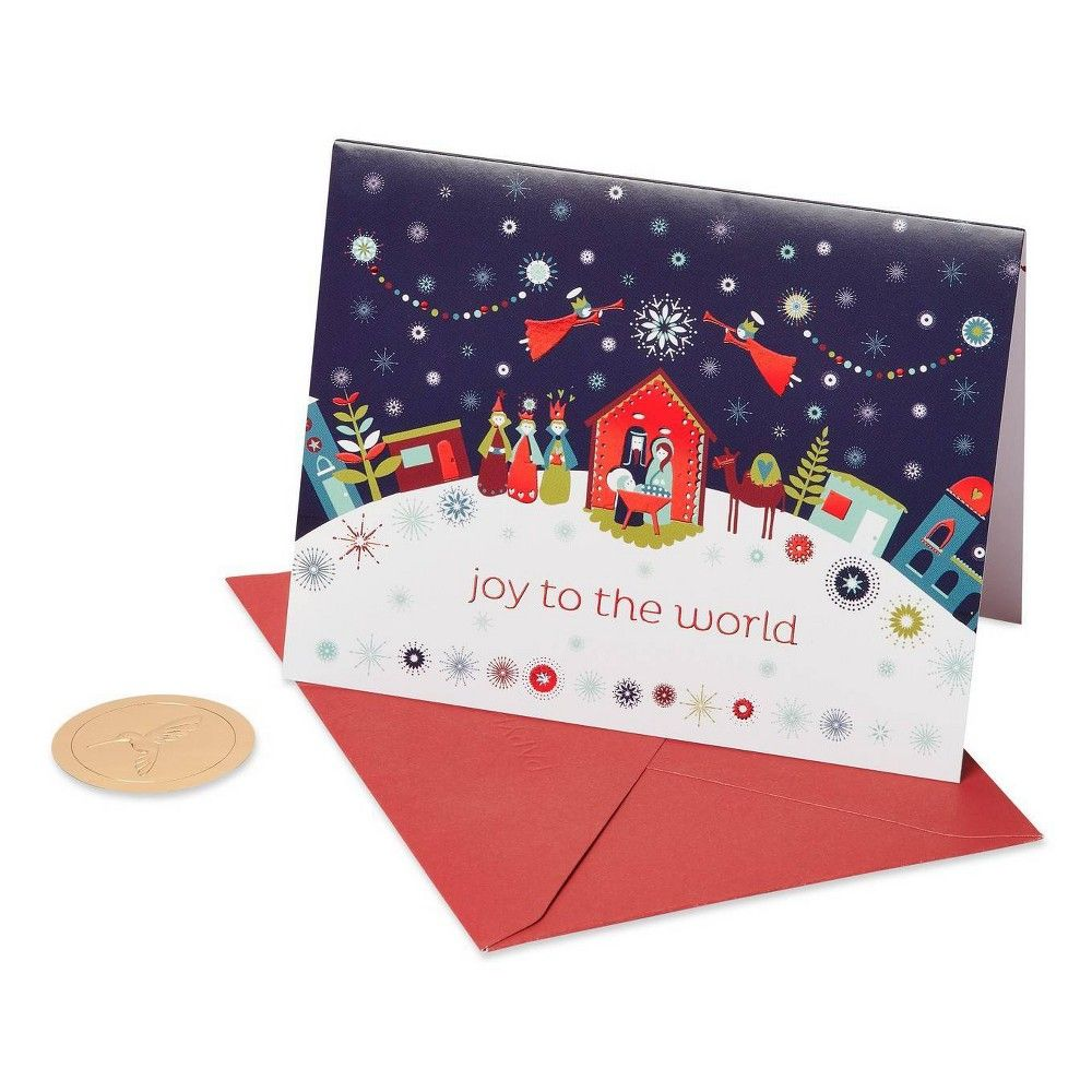 20ct Papyrus Joy to the World Boxed Holiday Greeting Cards