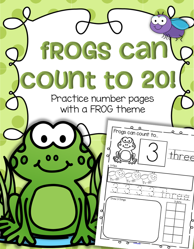 FROGS Number Practice Printables - Recognition, Tracing, Counting 1 ...