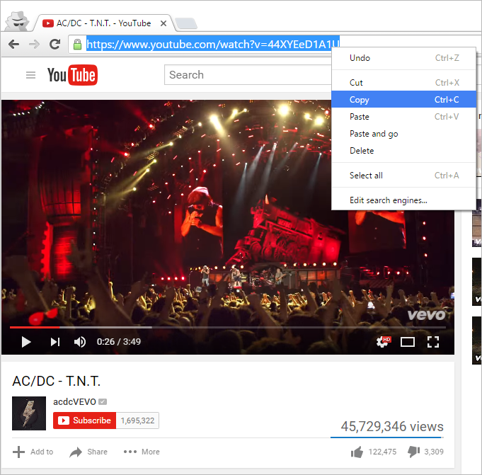 Copy Browser Link From Youtube Music Clip Download Music From Youtube Music Clips Music