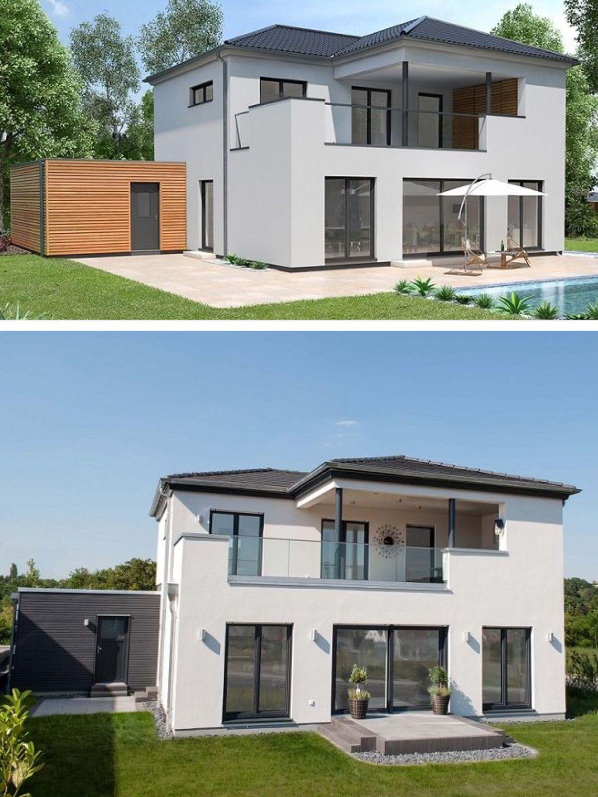 Moderne Stadtvilla Mit Walmdach Architektur Einfamilienhaus Bauen