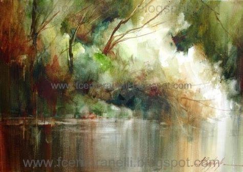 Fabio Cembranelli Watercolor Art Diy Landscape Paintings