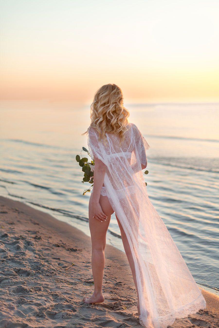 Ethereal Beach Bridal Boudoir Shoot Bridal boudoir