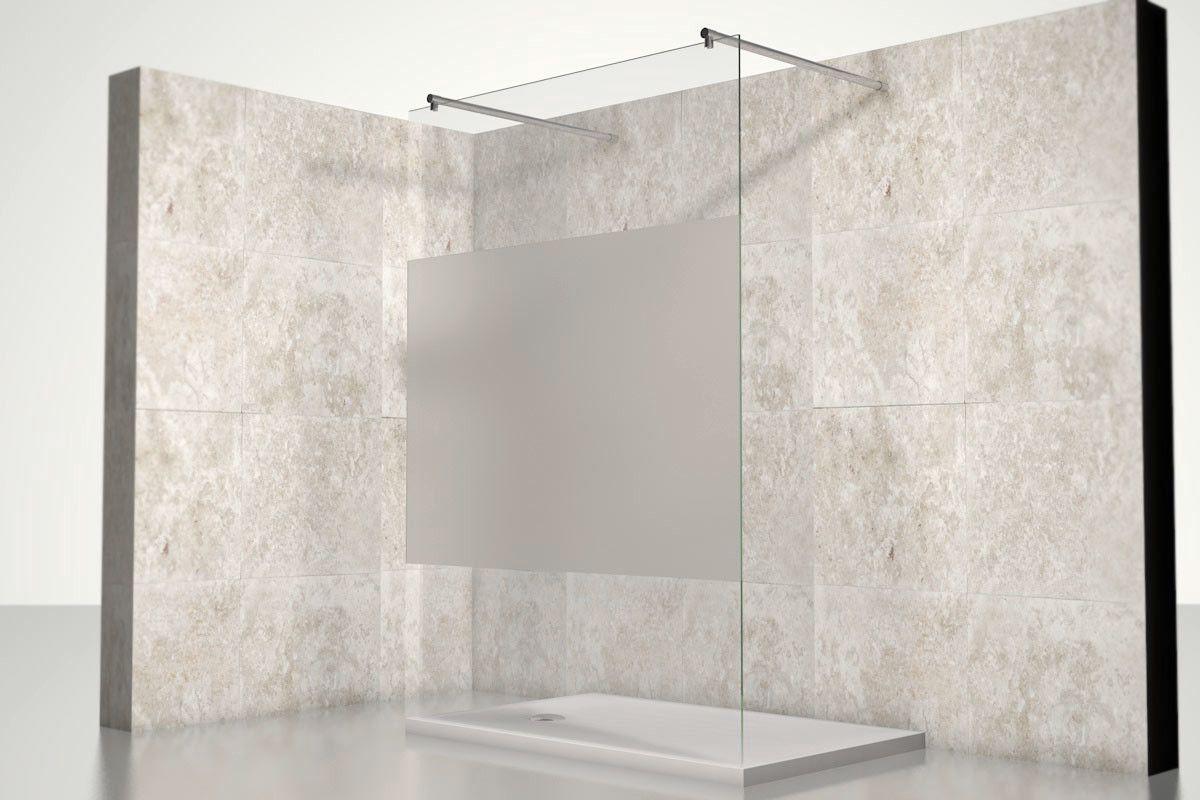 Glasduschwand Teilsatiniert Nach Mass Glasduschwand Dusche Badewanne Mit Dusche