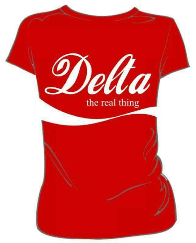 The Real Thing! Love this tee... Delta sigma theta gifts