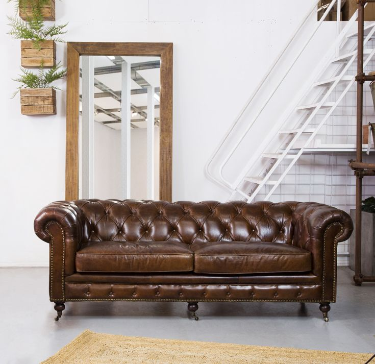 Sheffield 2 Seater Leather Sofa