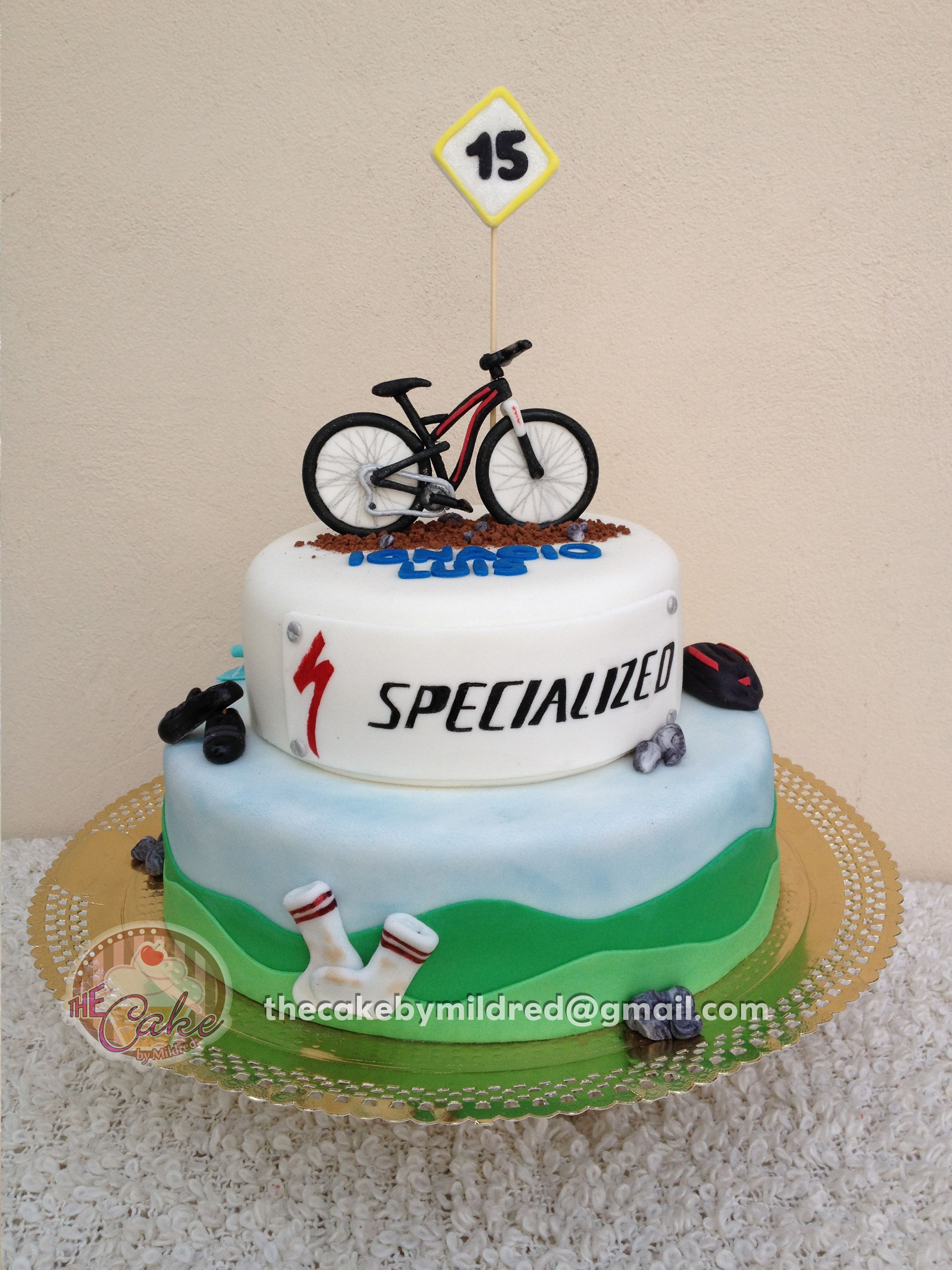 Gmail mountain theme pictures - I Made This 2 Tiered Cake For My Godson He Is A Mountain Bike Fan
