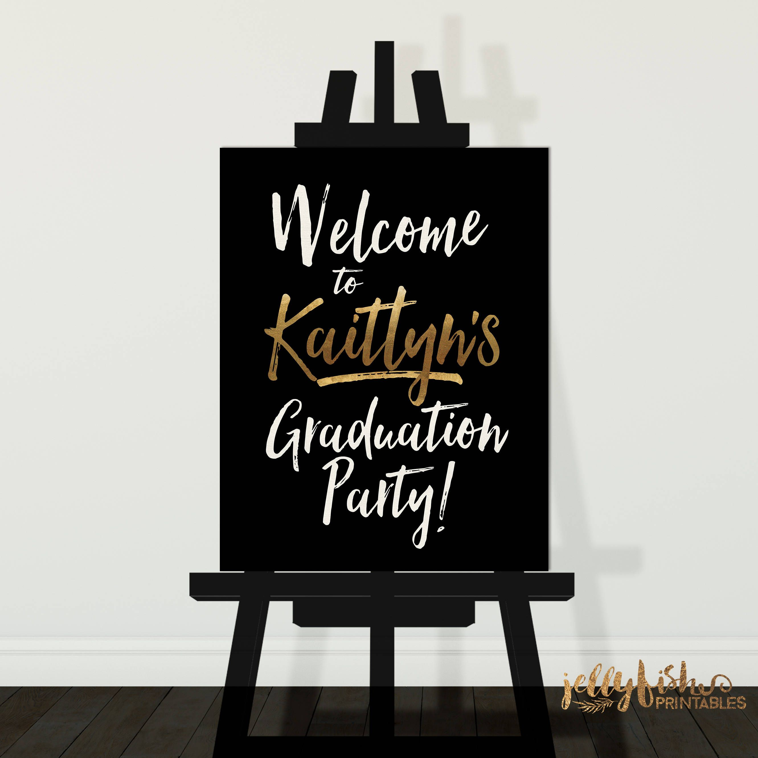 Graduation Party Welcome Sign