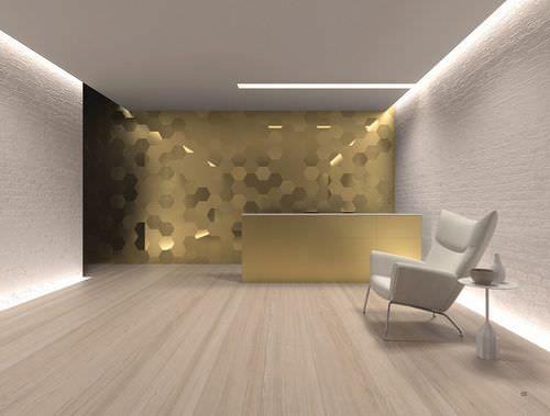 Baldosa de interior de pared de cer mica 3d geom for Baldosa ceramica interior