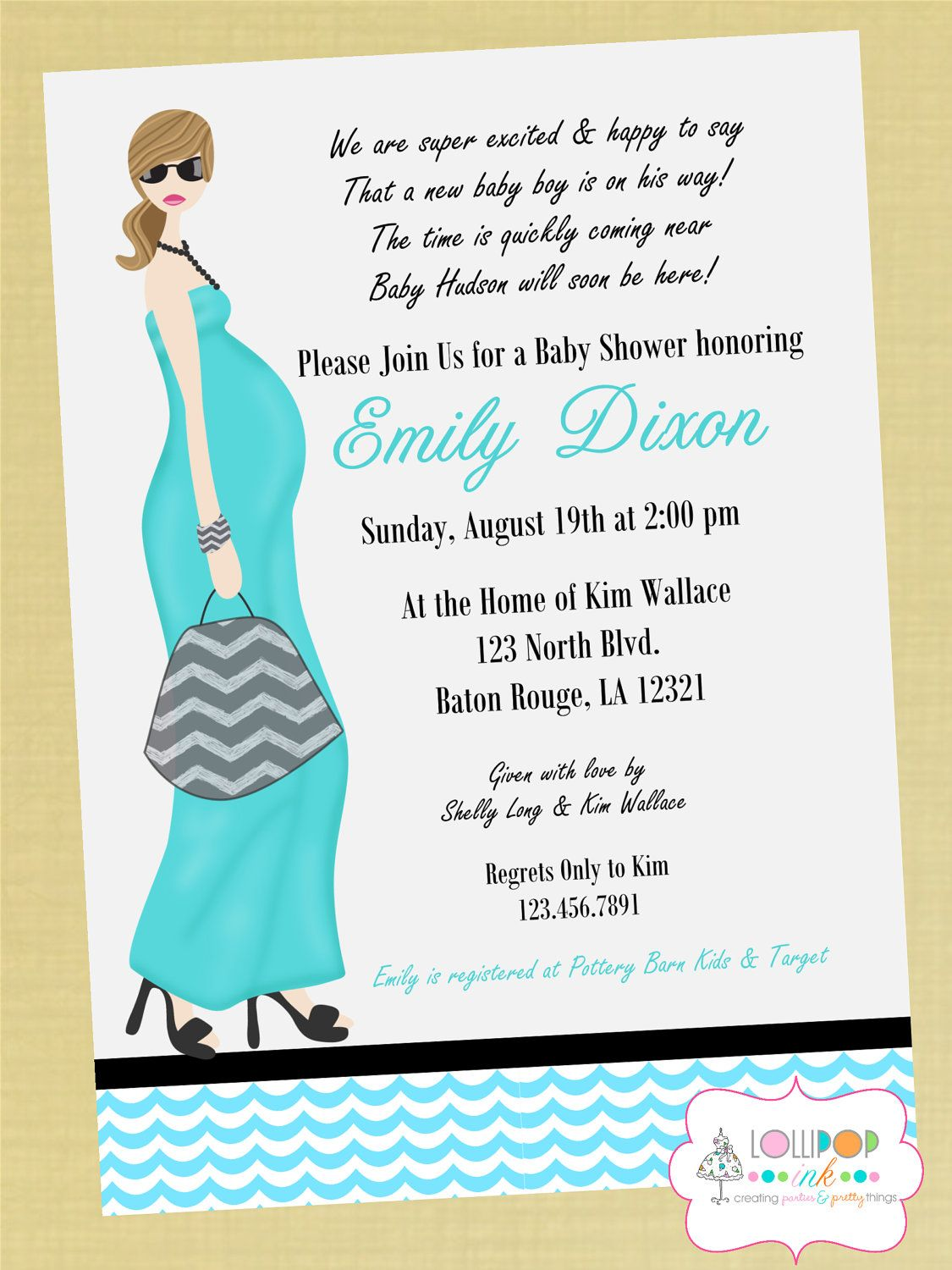 Its a Boy Mod Baby Shower Printable Invitation by LollipopInk – How to Word a Baby Shower Invitation