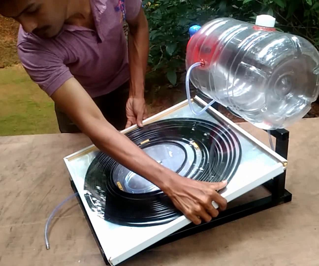 How to Make Solar Water Heater #alternativeenergy