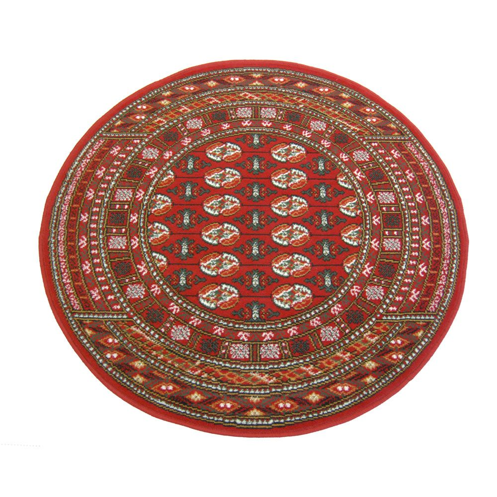Traditional Rug Bokhara Design Red