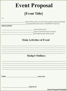 Event Proposal Template  AztemplatesOrg    Event
