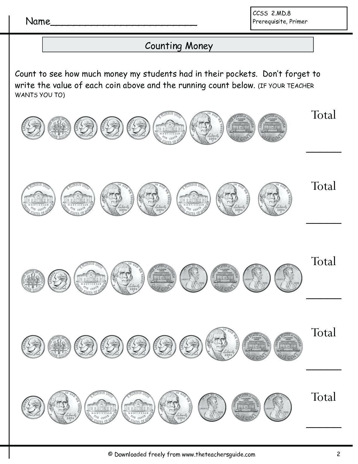 Nickel Worksheets For Kindergarten Count Coins Worksheet Counting Money Bills And Coins In 2020 Money Math Worksheets Counting Money Worksheets Money Worksheets
