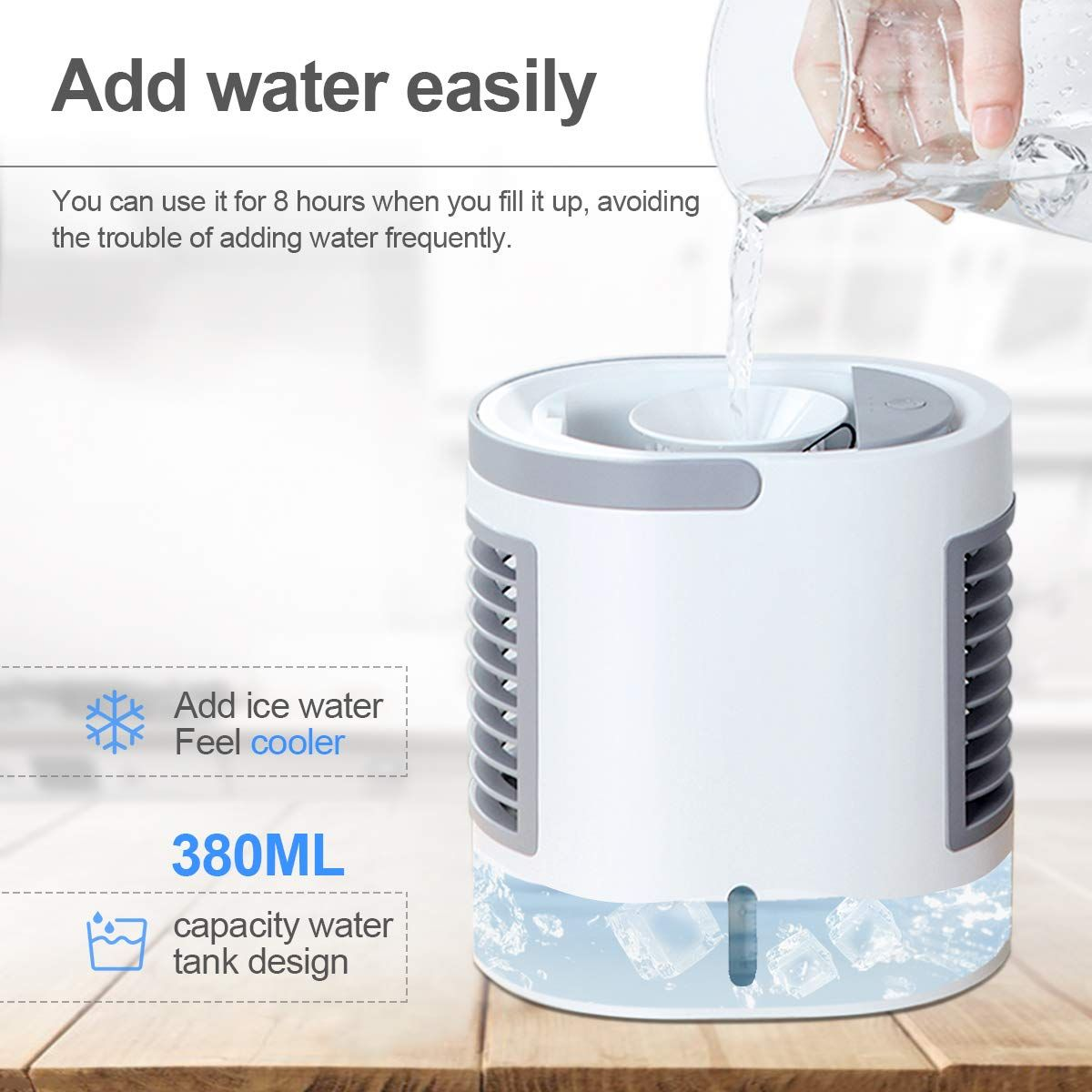 ENKLEN Portable Air Conditioner, Personal Mini Air Cooler