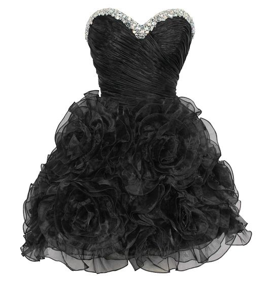 Black Sparkly Dresses | ... cheap short corset black sweet 16 birthday poofy prom dresses 2013