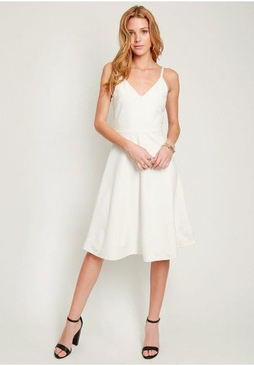 Pure Light Fit and Flare Midi Dress | Modern Vintage New Arrivals | Ruche