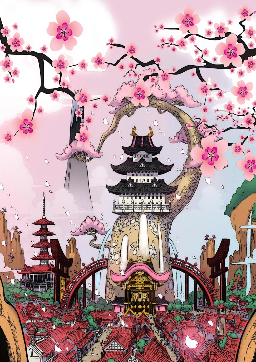 Wano Kuni Poster Land Of Wano One Piece Wallpaper Iphone One