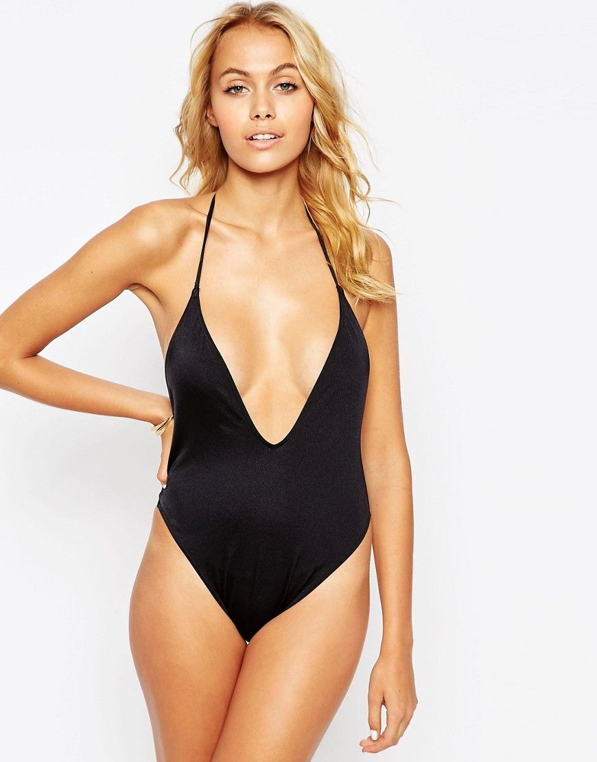 sexy ausgeschnittener Badeanzug