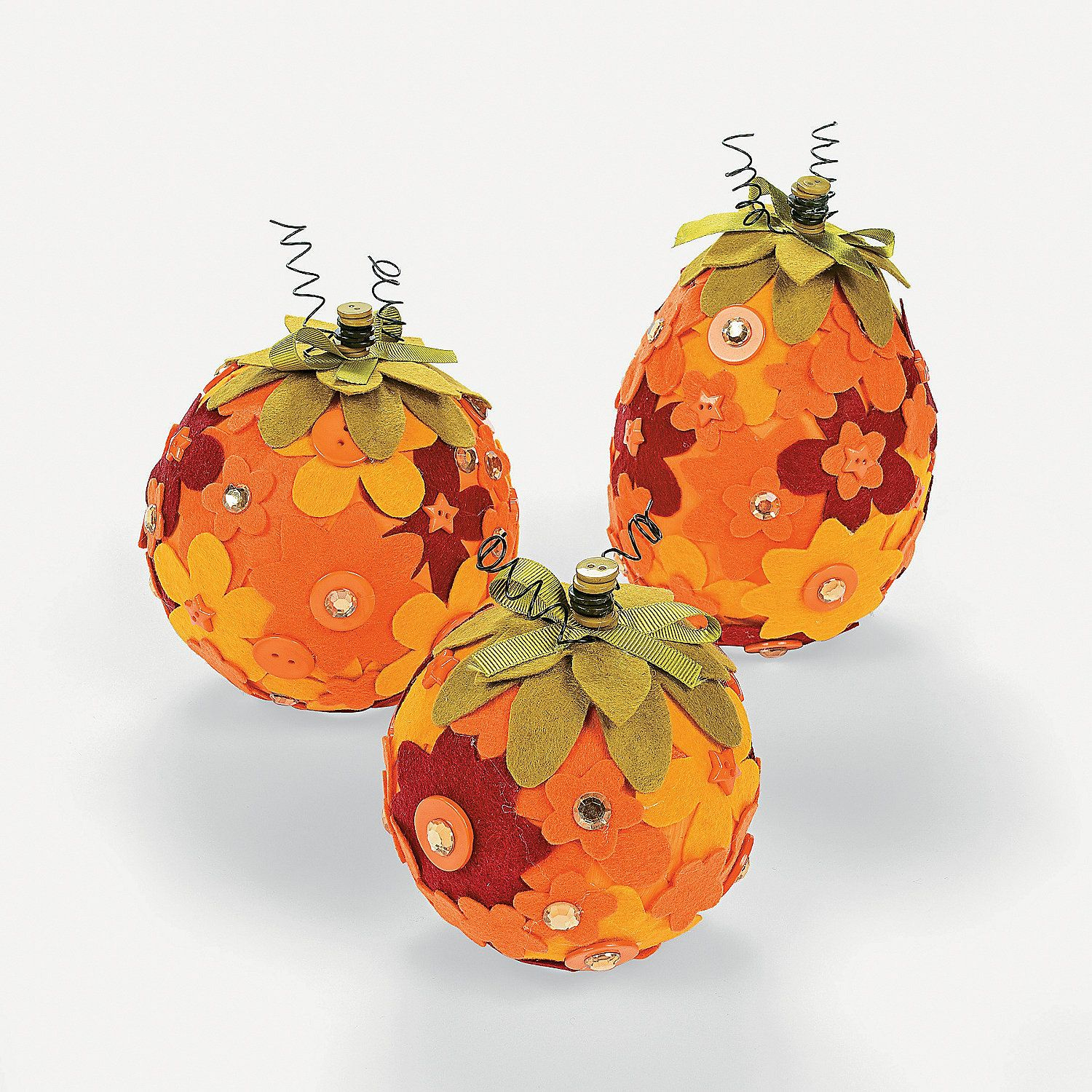 Flower Pumpkin Decorating Craft Kit - OrientalTrading.com ...