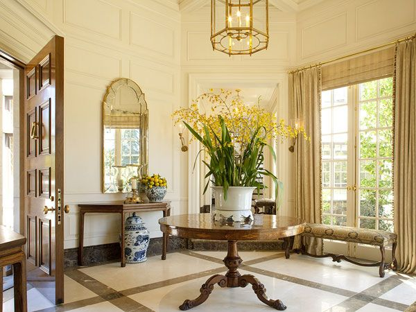 Grand Foyer In English : Lovely foyer arrangement notice the lemons on