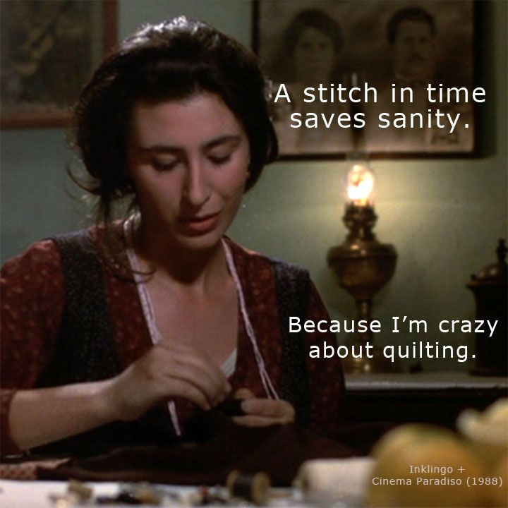 Watching Cinema Paradiso makes me think of quilting--of course! Originally published on the Inklingo Facebook page. https://www.facebook.com/inklingo