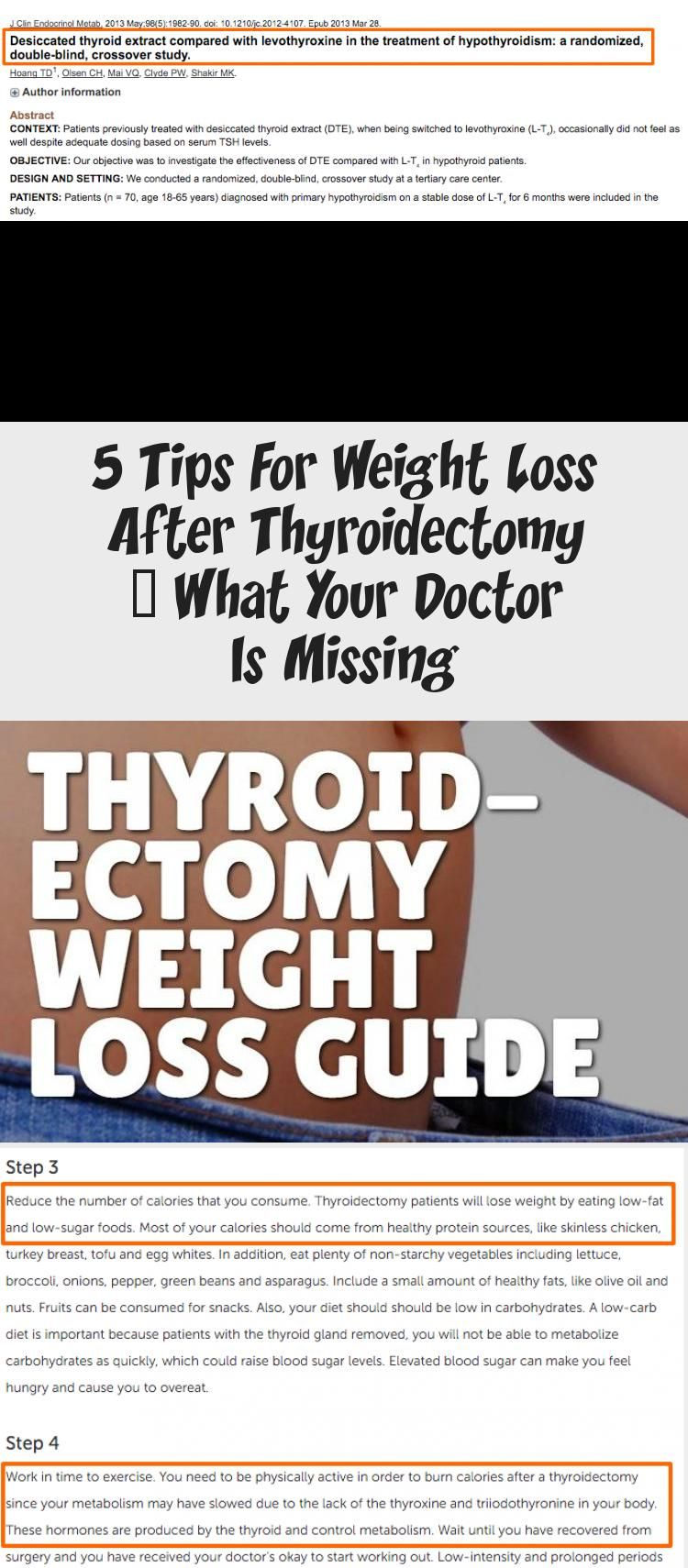 low fat diet after thyroidectomy