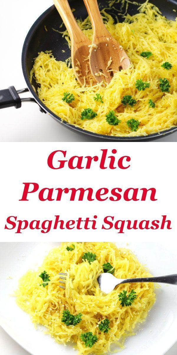 Garlic Parmesan Spaghetti Squash - Food -