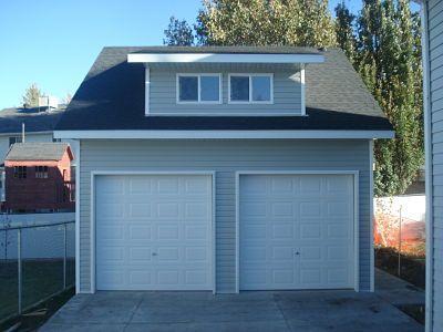Detached garage with dormer windows // Perfect addition to an older home // Utah Sheds