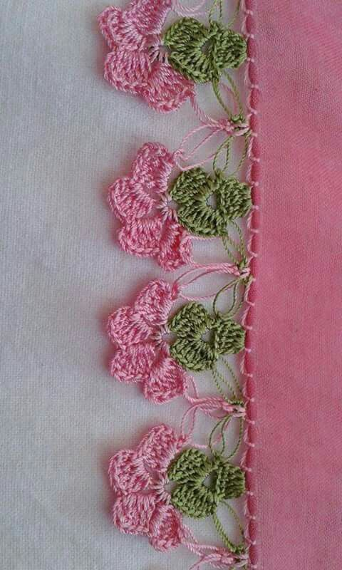 Barrado De Flores Desenhos De Croche Padroes De Bainhas
