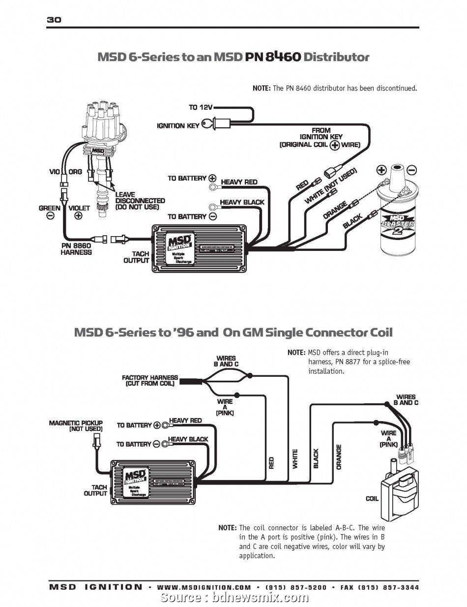 Hei Distributor Wiring Diagram Ignition Coil Msd Diagram