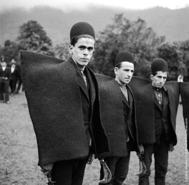 Iranian shepherds from the north in the early 1950s wearing iranian shepherds from the north in the early 1950s wearing traditional heavy woollen mantles they publicscrutiny Image collections