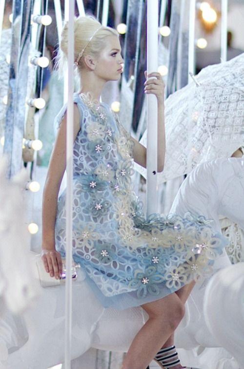 At Louis Vuitton Spring/Summer 2012 RTW during Paris Fashion Week.